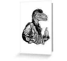 Greaseraptor Greeting Card