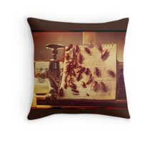 Cockroach Love Hate Living Situation Throw Pillow