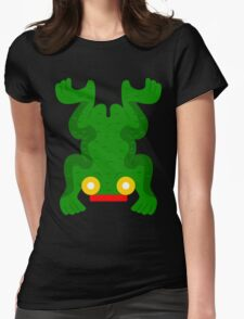 Aztec frog V2 Womens Fitted T-Shirt