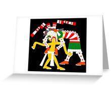 Aztec Zombie - Codex Laud 05 Greeting Card