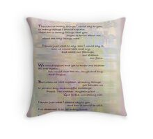Imaginary Conversations  Throw Pillow
