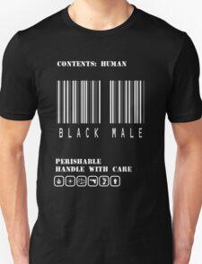 Black Male Barcode T-Shirt
