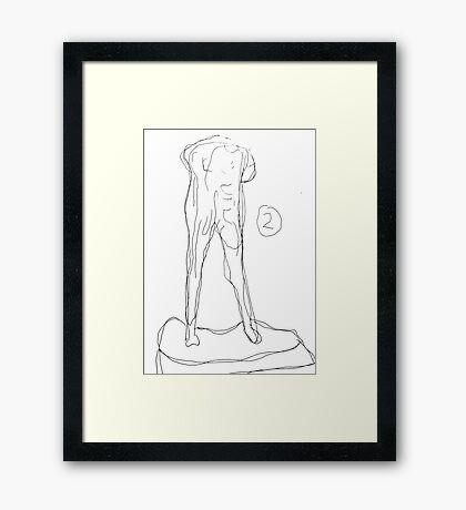 The Walking Man Framed Print