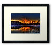 Lillie Park Sunset Framed Print