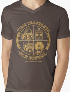 TIME TRAVELERS OLD SCHOOL Mens V-Neck T-Shirt