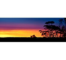 0871 Swan Hill Sunset Photographic Print