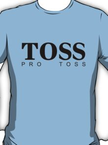 TOSS - hugoboss parody - black type T-Shirt