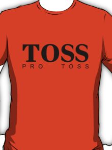 TOSS - hugoboss parody - black type T-Shirt