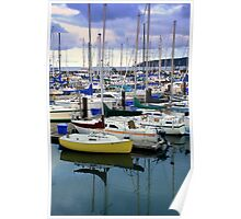 Yellow Yacht Poster