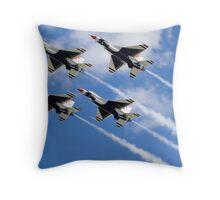 Thunderbirds in Action Throw Pillow