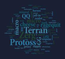 Starcraft Wordcloud - ocean floor by SCshirts