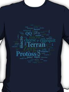 Starcraft Wordcloud - ocean floor T-Shirt