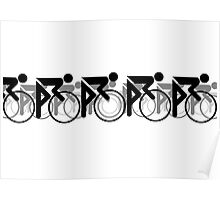 The Bicycle Race 2 Black Poster