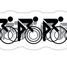 The Bicycle Race 2 Black Sticker