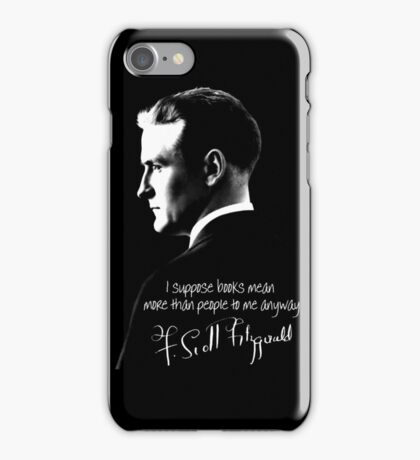 F. Scott Fitzgerald Design iPhone Case/Skin
