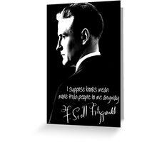 F. Scott Fitzgerald Design Greeting Card