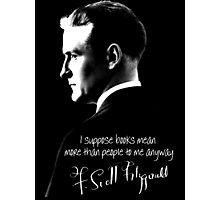 F. Scott Fitzgerald Design Photographic Print