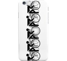 The Bicycle Race 2 Black iPhone Case/Skin