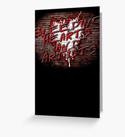 Bleeding Hearts and Artists Pink Floyd Inspired The Wall Design Greeting Card