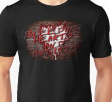 Bleeding Hearts and Artists Pink Floyd Inspired The Wall Design Unisex T-Shirt