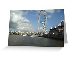 London Eye and River Thames Greeting Card