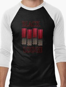 Black Lodge Men's Baseball ¾ T-Shirt