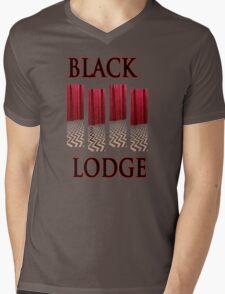 Black Lodge Mens V-Neck T-Shirt