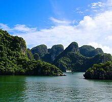 Islands Seascape - Ha Long, Vietnam. by Tiffany Lenoir