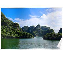 Islands Seascape - Ha Long, Vietnam. Poster