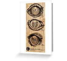Croc eyes Greeting Card