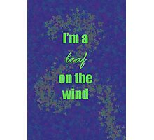 I'm a leaf on the wind-2 Photographic Print