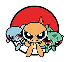Powerpuff Pokemon Photographic Print