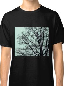 Fall Tree Silhouette Vector Green Classic T-Shirt