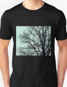 Fall Tree Silhouette Vector Green Unisex T-Shirt