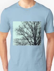 Fall Tree Silhouette Vector Green Unisex T-Shirt