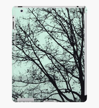 Fall Tree Silhouette Vector Green iPad Case/Skin