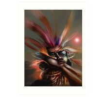 Startled Witchdoctor Art Print