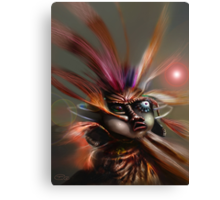 Startled Witchdoctor Canvas Print
