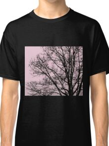 Fall Tree Silhouette Vector Pink Classic T-Shirt