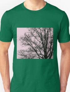 Fall Tree Silhouette Vector Pink Unisex T-Shirt