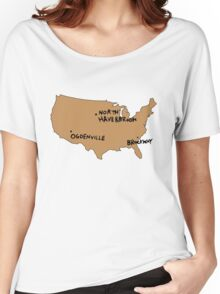 Ogdenville, North Haverbrook and Brockway Women's Relaxed Fit T-Shirt