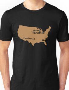 Ogdenville, North Haverbrook and Brockway Unisex T-Shirt