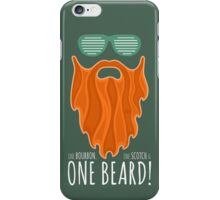 Red Beard Illustration / One Bourbon, Once Scotch & One Beard iPhone Case/Skin