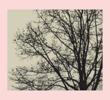 Fall Tree Silhouette Vector Yellow Baby Tee