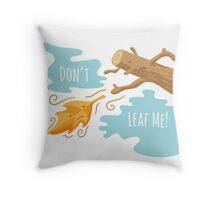 Fall Leaf Illustration / Sad Love Story Throw Pillow