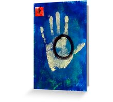 Health Hand Print Greeting Card