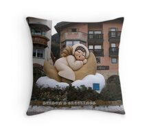 Angel Season's Greetings Throw Pillow