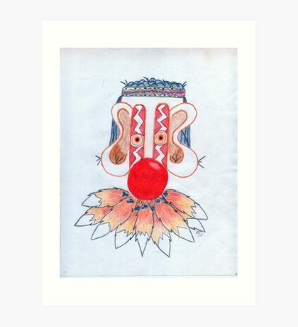 FOX TAIL CLOWN Art Print