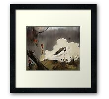 From the mist Framed Print
