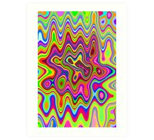 Psychedelic Glowing Colors Pattern Art Print